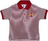 Creative Knitwear Iowa State University Cyclones Striped Polo Shirt Crimson/White
