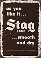 Stag Beer 金属板ブリキ看板警告サイン注意サイン表示パネル情報サイン金属安全サイン