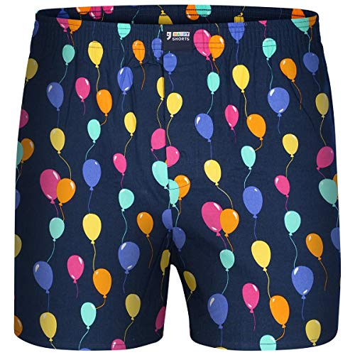 Happy Shorts Boxershorts Herren/Web-Boxer mit Jersey-Inlay – Modell: Balloons XL