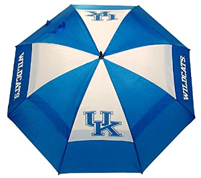 "Team Golf NCAA Kentucky Wildcats 62"" Golf Umbrella with Protective Sheath, Double Canopy Wind Protection Design, Auto Open Button"