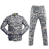 SR-Keistog Uniforme Militar de Camuflaje táctico Traje de Ropa para Hombres Camisa de Combate Militar Airsoft + Pantalones Cargo ACU XXL