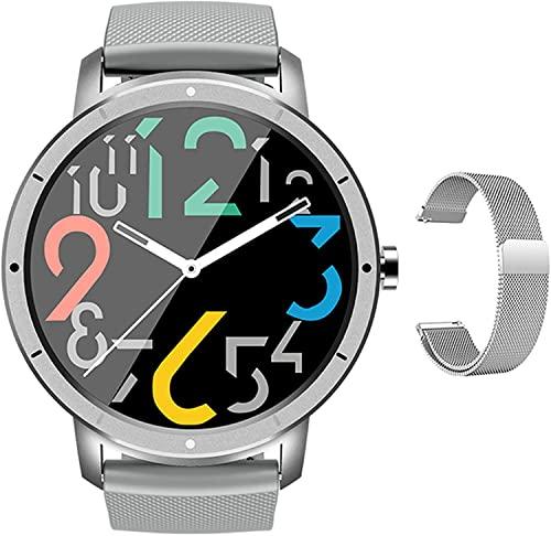 PKLG Reloj Inteligente Hombres Mujeres IP68 Impermeable Bluetooth Sleep Monitor Fitness Podómetro Rastreador de Ritmo Cardíaco Smartwatch (C)
