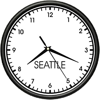 Seattle TIME Wall Clock World time Zone Clock Office Business