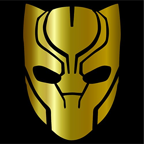 Cove Signs Black Panther Decal/Sticker - Gold 4' - Avengers, Marvel