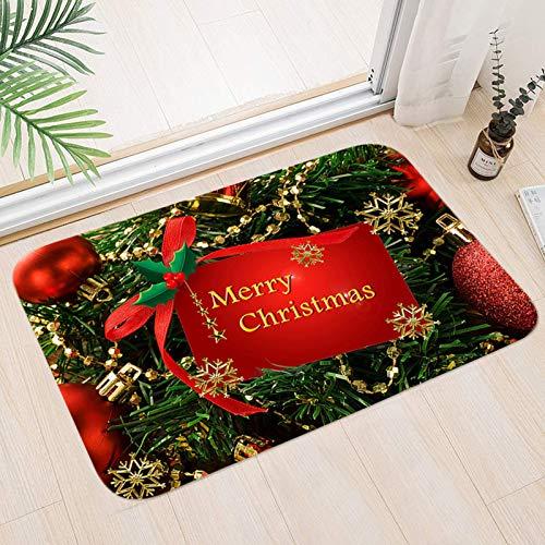 Sunshine smile Teppich Anti Rutsch Unterlage,40 * 60 cm,Weihnachtsteppich,Weihnachten Area Rug,Türmatte,Kurzflor Fußmatte,Teppich Wohnzimmer,rutschfeste Badematte,Home Decor,weihnachtsdekoration