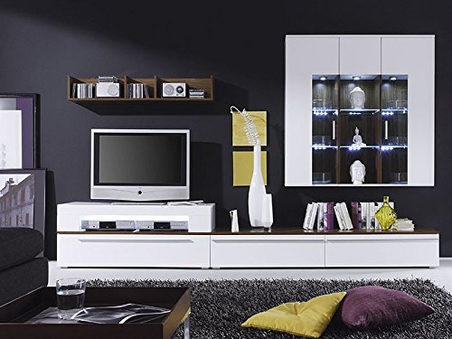 Expendio 44848249 Wohnwand, MDF/Spannplatte, weiß, 47 x 312 x 190 cm - 2