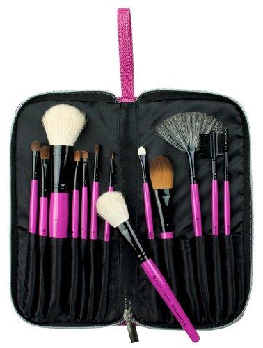 Royal & Langnickel - BPBE-SET13S - Brush Essentials - Rose en Poils Synthetiques - 13 Pieces - Kit Portefeuille