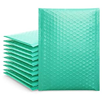 Fuxury Small Teal Bubble Mailers 6x10 Self-Seal Shipping Bags 25 Pack Poly Bubble Mailers Packaging Bags Mailing Bags Padded Envelopes Packaging for Small Business Boutique Accessories