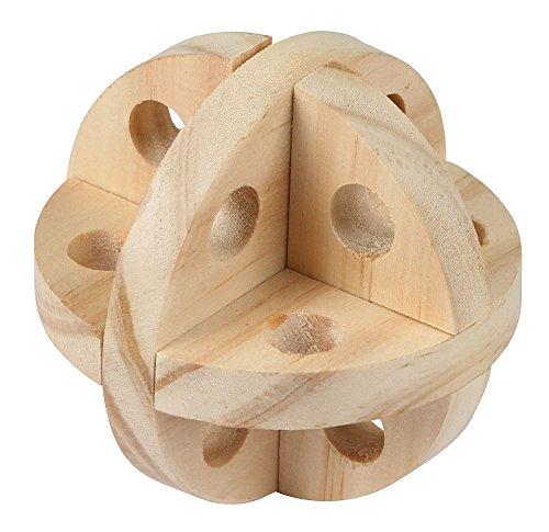 Kerbl 82864 Spielball und Snackball für Nager Natur, Diameter 7 cm - 3