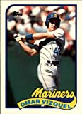 1989 Topps Traded Baseball Rookie Card #122T Omar Vizquel Mint. rookie card picture