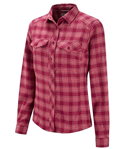 Craghoppers Damen Bluse Howley Long Sleeve Shirt, Dark Cerise, 14, CWS372 13J
