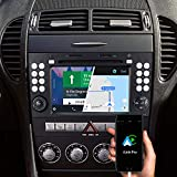 Dynavin N7-SLK Pro 7 Pulgadas Autoradio Navi GPS Navegación para Mercedes SLK R171 2004-2010: Apoyo De DAB+ Radio Digital Ios Android Coche BT Cámara Marcha Atrás Ready USB