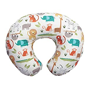 Boppy Original Nursing Pillow and Positioner, Peaceful Jungle, Cotton Blend Fabric