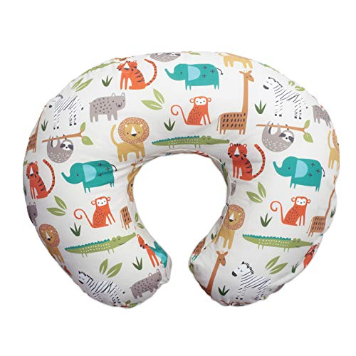 Boppy Original Nursing Pillow and Positioner, Peaceful Jungle, Cotton Blend Fabric with allover fashion