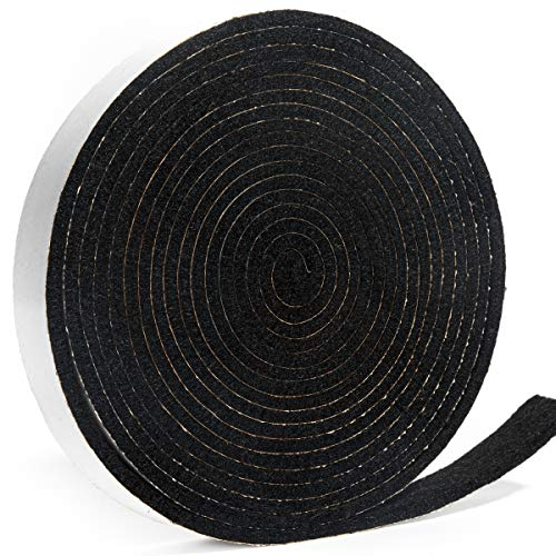 GriAddict Green Egg Gasket Replacement - Fit Big Green Egg Gasket Large, High Temp Gasket Material, 14.5ft Long, 7/8in Wide, 1/6in Thick, Pre-Shrunk Self Stick Felt, Essential to Keep Heat Locked