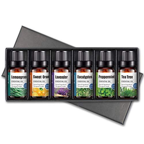 maimai Essential Oils 100% Pure - Beginners Pack - Gift Set,Pure Essential Oils Gift Set 6 x 10,Aromatherapy Essential Oil & Diffuser Gift Set,Relaxing Essential Oils Set for Diffuser