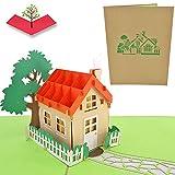 PopLife Familienhaus 3D Pop Up Karte für alle Anlässe -
