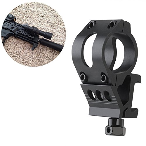 Haowenzhen Flashlight Offset Ring Side Gun Mount for Laser Flashlight Torch