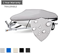Seamander Trailerable Runabout Boat Cover Fit V-Hull Tri-Hull Fishing Ski Pro-Style Bass Boats, Full Size