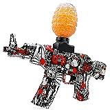 Electric Gel Gun Water Bead Gun AKM-47 Automatic Water Bullet Shooter Toy Gun for Adults Kids Ages 12+, Fun Backyard Outdoor Games Toy Blaster Gun, Graffiti (Red)