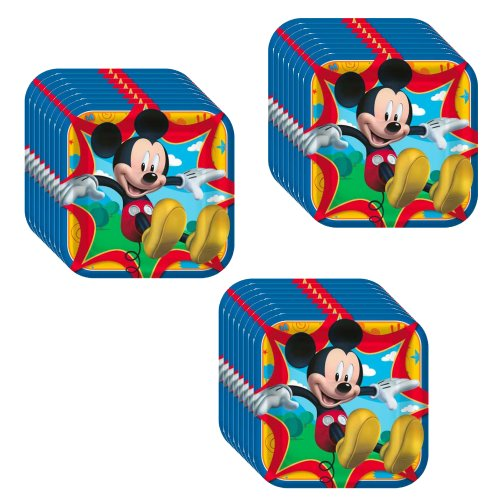 Disney Mickey Mouse Clubhouse Party Dinner Plates -24 Guests by Hallmark