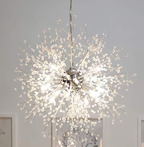 Moderne Feuerwerk Kronleuchter Kronleuchter Beleuchtung Lampe, 23,5 Zoll im Durchmesser, Edelstahl Kristall Innendekoration Lampe