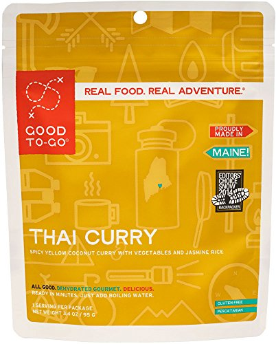 GOOD TO-GO Thai Curry - Double-Serving   Dehydrated Backpacking and Camping Food   Lightweight   Easy to Prepare