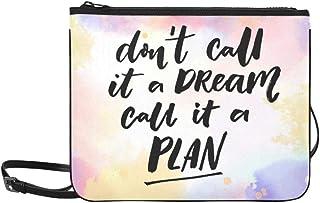 Dont Call Dream Call Plan Motivation Custom High-grade Nylon Slim Clutch Bag Cross-body Bag Shoulder Bag