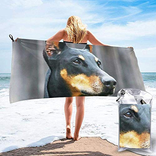 Quick Dry Beach Towel Animal Dog Printed Microfiber Lightweight Bath Towels Suitable For Household Children And Adults Camping Swimming Yoga-27.5'X55'