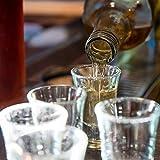 Relaxdays 6er Set Schnapsgläser, Pinnchen aus Glas, 4 cl, für Liköre, Kaffee, Karneval, spülmaschinenfest, transparent - 4
