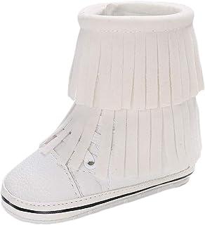 [BAOMABA] ベビーシューズ 子供靴 幼児の靴 スノーブーツ ブーティ 出かけ 旅行 パーティー 滑り止め 暖かい プレゼント 履き脱ぎやすい ソフトソール カシミアタッセル ファッション ガールズ