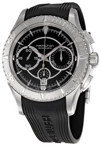 HAMILTON H37616331 - Reloj analógico automático para Hombre, Correa de Goma Color Gris