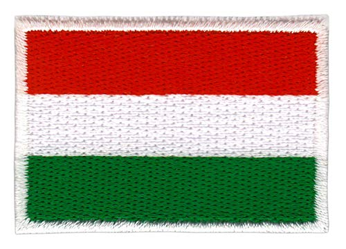 Bestellmich Ungarn Flagge Klein Aufnäher Bügelbild Größe 4,7 x 3,2 cm