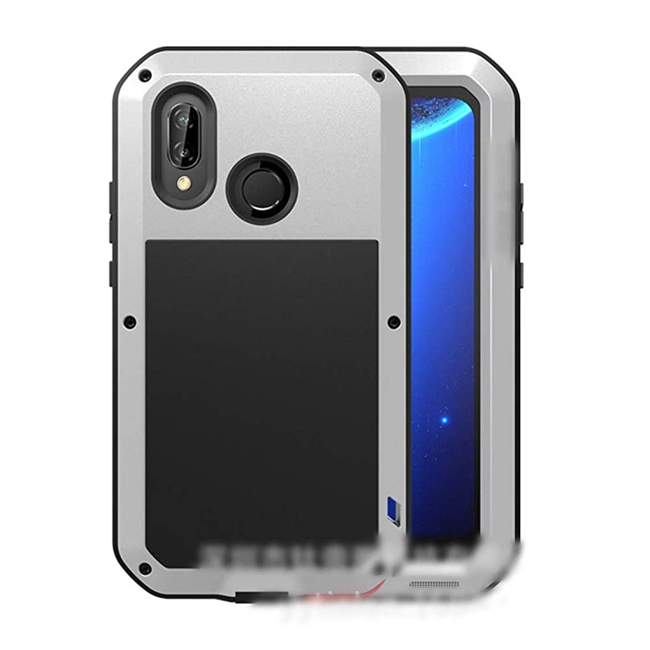 捧げるレバー定規Tonglilili Huawei社P20、P20 Pro、P20 Lite、Mate10、Mate10 Pro、Mate20、Mate20 Pro、Nova 3e、Mate20 Lite用の3つの携帯電話シェル新しい金属製の落下防止カバー電話ケース (Color : Silver, Edition : Mate10 Pro)
