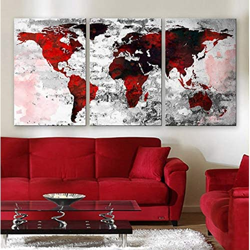 Red Black Gray Decor Pictures: Amazon.com