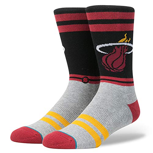 Stance NBA Miami Heat City Gym Calcetines Hombre Granate