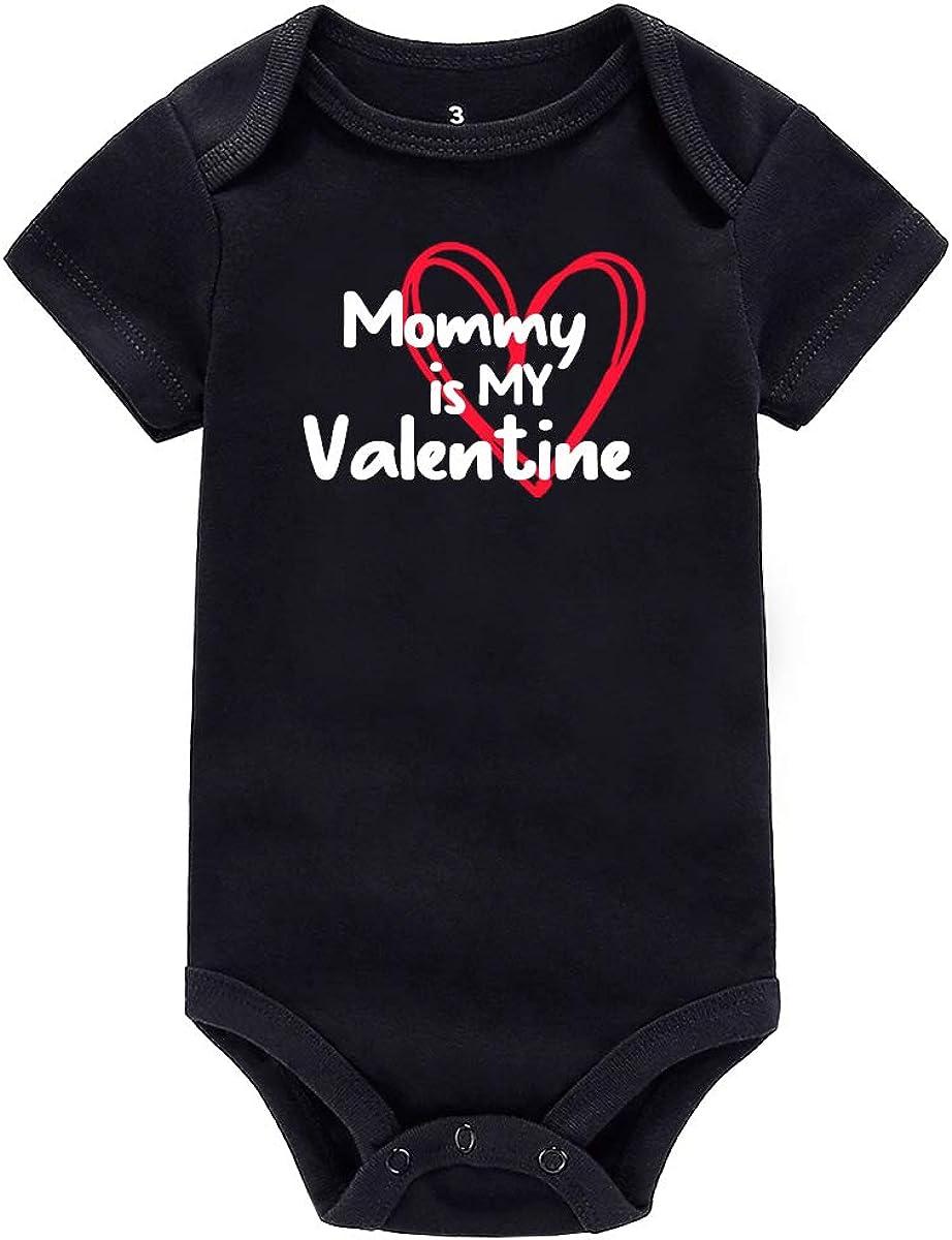 AMMENGBEI Mommy is Finally resale start My Max 63% OFF Valentine Sleeve Infant Short Baby Newborn