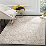 Safavieh Reflection Collection RFT664A Vintage Distressed Area Rug, 8' x 10', Beige / Cream
