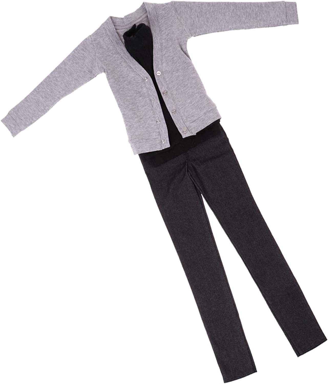 MagiDeal 1 3 BJD Doll Cardigan Vest Jeans Set Clothes for Normal 70cm Uncle Size Doll