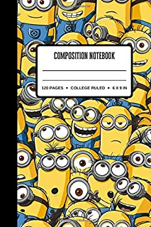 Composition Notebook: Gift For Minions Lovers ~ Small Lined Notebook / Journal To Write In