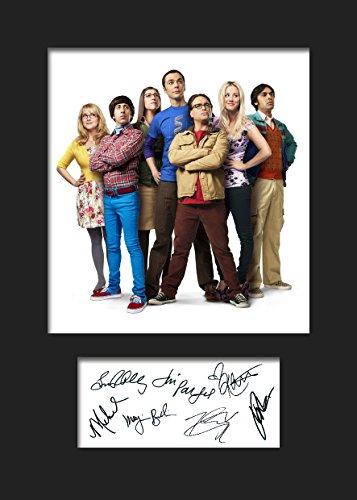 The Big BANG Theory #1   Signierter Fotodruck   A5 Größe passend für 6x8 Zoll Rahmen   Maschinenschnitt   Fotoanzeige   Geschenk Sammlerstück