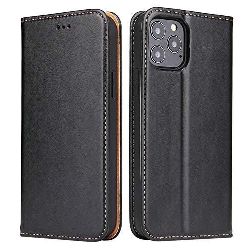 Compatible con la funda tipo cartera para iPhone 12 Pro Max, funda tipo carpeta con tapa de cuero PU con portatarjetas Soporte de bloqueo RFID Funda de teléfono con carcasa interior de TPU a prueba de