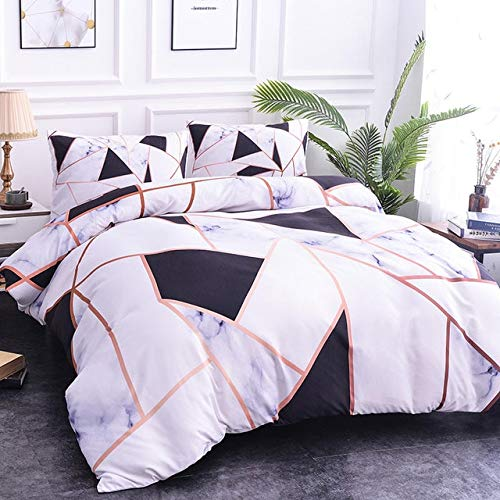 RONGXIE zacht marmer patroon beddengoed sets dekbedovertrek set van tweepersoonsbedden geometrisch bed set Twin Queen King Quilt Cover Bed kleding