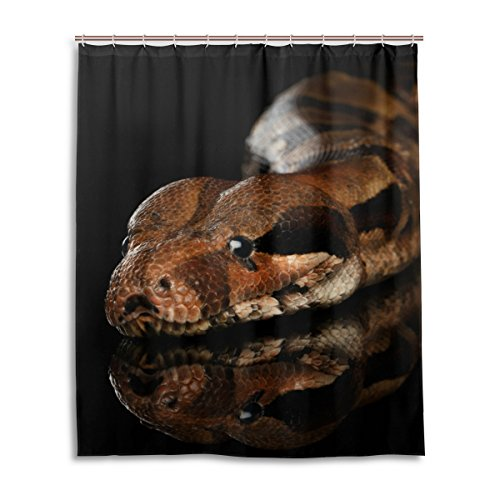 My Daily Schlange riesenschlangen Duschvorhang 152,4x 182,9cm, schimmelresistent und Wasserdicht Polyester Dekoration Badezimmer Vorhang