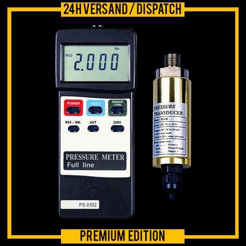 Drukmeter tester manometer druksensor compressoren pompinstallaties tanks Silos DM1