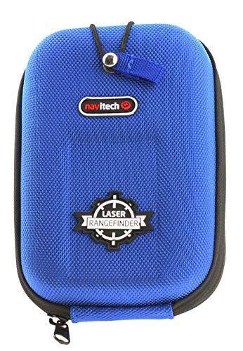 Navitech Etui Rigide Bleu Compatible avec télémètre EVA/Housse avec Mousqueton Compatible avec Bushenll Tour V2 Slope Edition/Bushnell Tour V3 Slope/Bushnell Tour V4 Slope/Bushnell Tour V4 Shift
