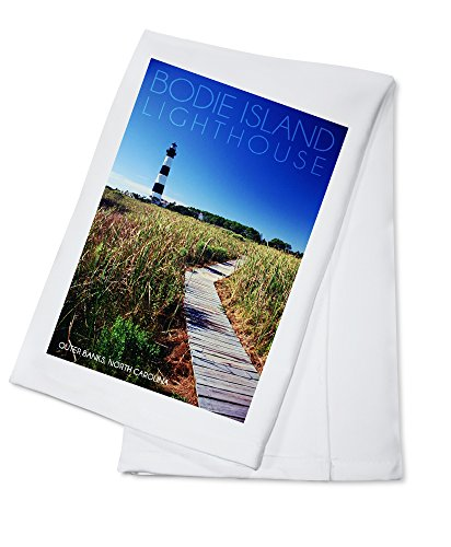 Bodie Island Lighthouse on Clear Day - Outer Banks, North Carolina (100% Cotton Kitchen Towel)