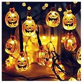 LED Halloween Lichterketten Solar Lichterkette Nachtlicht Zeichen Licht Dekor Schlafzimmer Wohnzimmer Garten Straße Dekoratives Licht Urlaub Beleuchtung (5m 20LED)