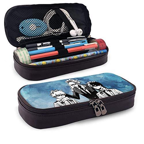All Might Head Pat - Estuche de piel para lápices de alta capacidad, bolsa de papelería para estudiantes, estuche portátil, para artículos escolares y de oficina