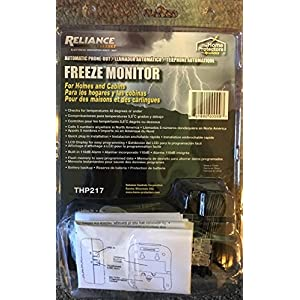 Reliance Controls Corporation THP217 FREEZE MONITOR Automatic Phone Out Freeze Alarm
